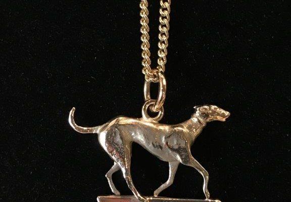 paul eaton gold greyhound necklace