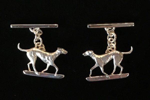 sterling silver dog cufflinks